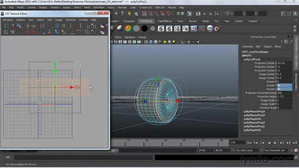 Mapping polygon UV surfaces: Creating Textures and Shaders in Maya