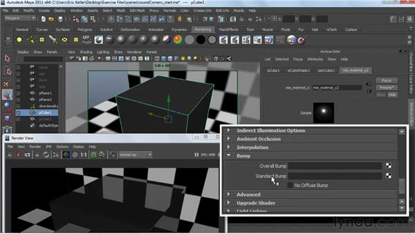 Considering the round corners texture: Creating Textures and Shaders in Maya
