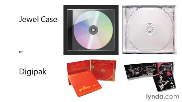 CD packages and parts: Designing a CD Cover