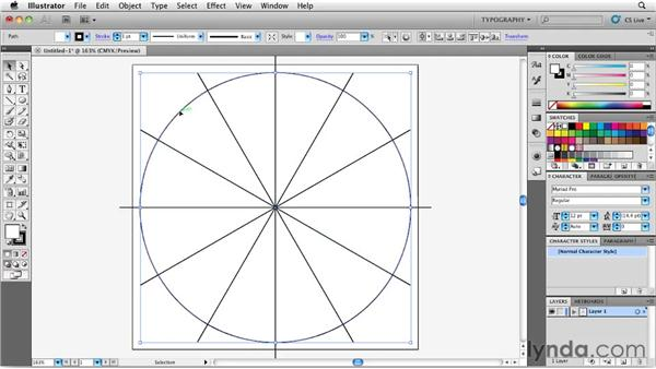 Arranging around a circular grid: Designing a CD Cover