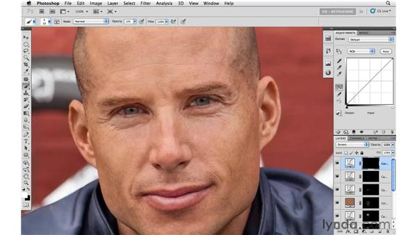 Using curves and blending modes for tone: Photoshop CS5: Athletic Retouching Projects