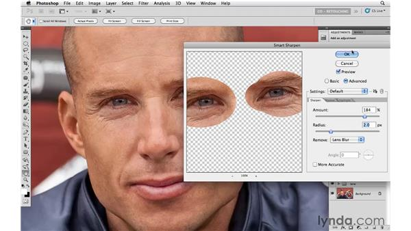 Improving the eyes: Photoshop CS5: Athletic Retouching Projects