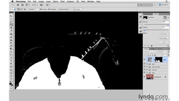 Modifying the jacket : Photoshop CS5: Athletic Retouching Projects