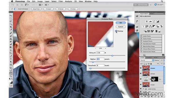 Sharpening the image: Photoshop CS5: Athletic Retouching Projects