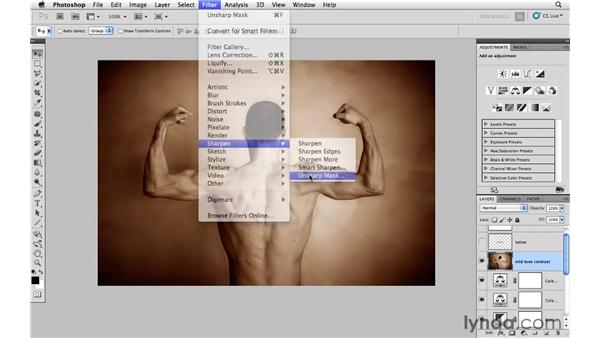 Working with contrast: Photoshop CS5: Athletic Retouching Projects