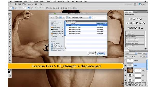 Blending with a displacement map: Photoshop CS5: Athletic Retouching Projects