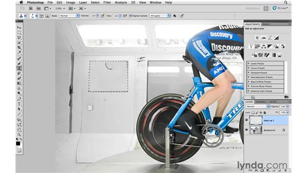 Cleaning up the original image: Photoshop CS5: Athletic Retouching Projects