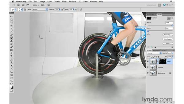 Removing blemishes and distractions from the background: Photoshop CS5: Athletic Retouching Projects