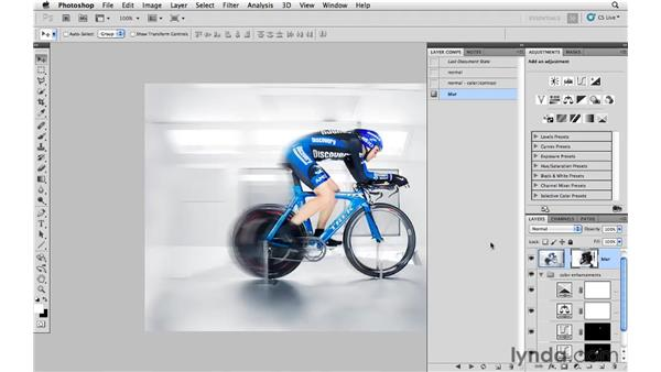 Sharpening and creating layer comps: Photoshop CS5: Athletic Retouching Projects