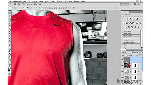 Sharpening the image: Photoshop CS5: Athletic Retouching Projects