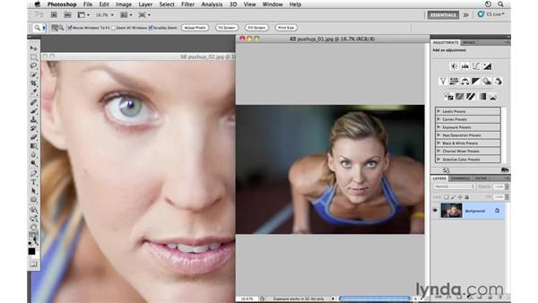 Combining multiple exposures: Photoshop CS5: Athletic Retouching Projects