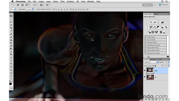Masking in the eyes: Photoshop CS5: Athletic Retouching Projects