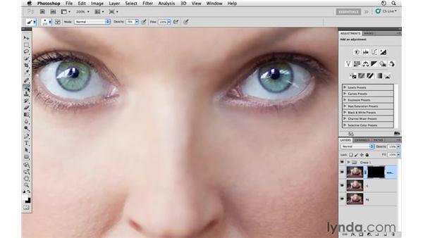 Sharpening the eyes: Photoshop CS5: Athletic Retouching Projects