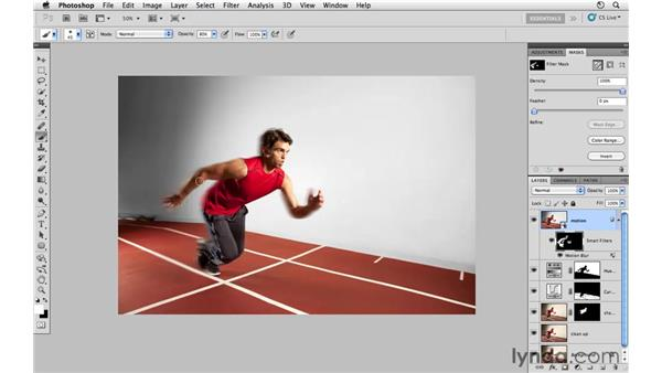 Adding motion blur: Photoshop CS5: Athletic Retouching Projects