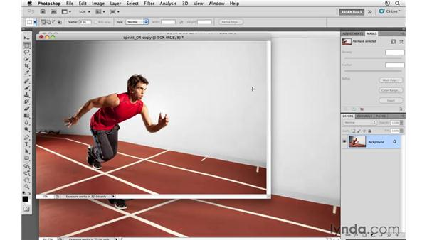 Improving composition by cropping: Photoshop CS5: Athletic Retouching Projects