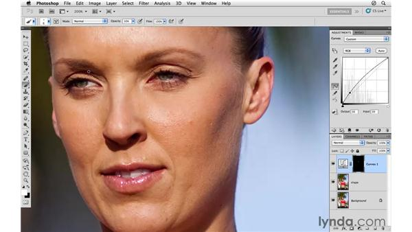 Improving the shadows: Photoshop CS5: Athletic Retouching Projects