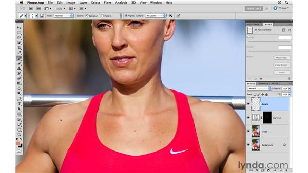 Cleaning up the details: Photoshop CS5: Athletic Retouching Projects