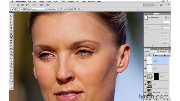 Removing unwanted highlights on the skin: Photoshop CS5: Athletic Retouching Projects