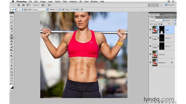 Increasing height: Photoshop CS5: Athletic Retouching Projects