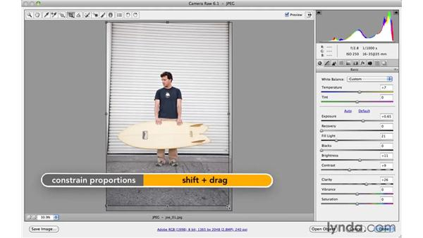 Making basic adjustments with Adobe Camera Raw (project 1): Photoshop CS5: Athletic Retouching Projects