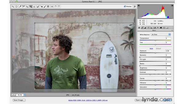 Making basic adjustments with Adobe Camera Raw (project 2): Photoshop CS5: Athletic Retouching Projects