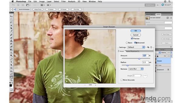 Modifying the tone and sharpening: Photoshop CS5: Athletic Retouching Projects