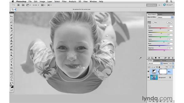 Converting the image to black and white: Photoshop CS5: Athletic Retouching Projects