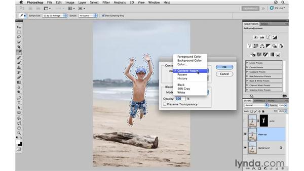 Removing and repositioning the subjects: Photoshop CS5: Athletic Retouching Projects