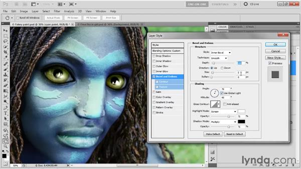 Adding texture and depth: Photoshop CS5 One-on-One: Mastery
