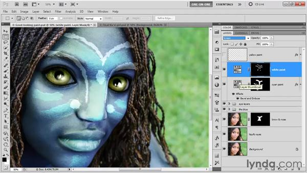 Simulating chalky white paint: Photoshop CS5 One-on-One: Mastery