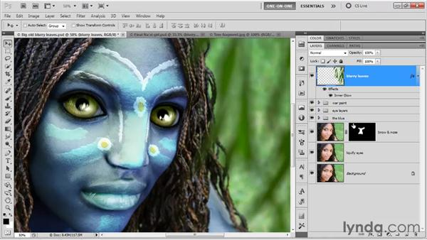 Blending blurry elements: Photoshop CS5 One-on-One: Mastery