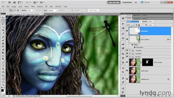 Blending away a background: Photoshop CS5 One-on-One: Mastery