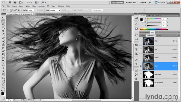 Making an alpha channel: Photoshop CS5 One-on-One: Mastery