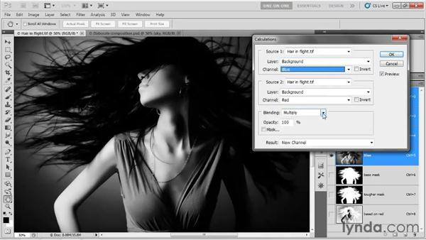 Using the Calculations command: Photoshop CS5 One-on-One: Mastery