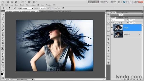 Prepping an image with the Dodge tool: Photoshop CS5 One-on-One: Mastery