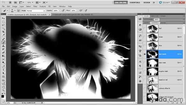 Painting in the Overlay mode: Photoshop CS5 One-on-One: Mastery