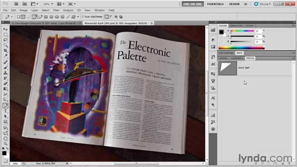 Drawing a straight-sided outline: Photoshop CS5 One-on-One: Mastery