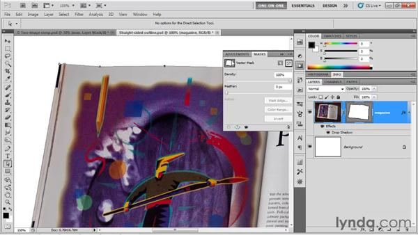 Editing a path outline: Photoshop CS5 One-on-One: Mastery