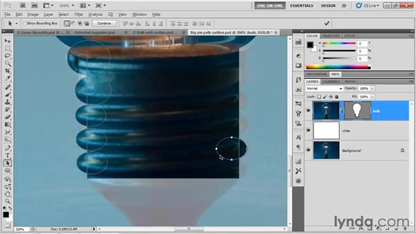 Roughing in non-symmetrical paths: Photoshop CS5 One-on-One: Mastery