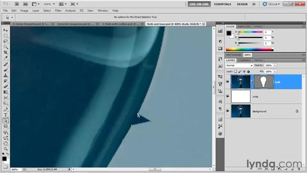 Finessing a complex outline: Photoshop CS5 One-on-One: Mastery