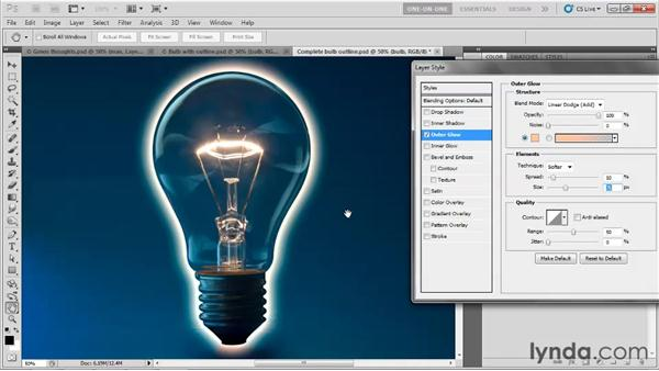 Masking a layer effect: Photoshop CS5 One-on-One: Mastery