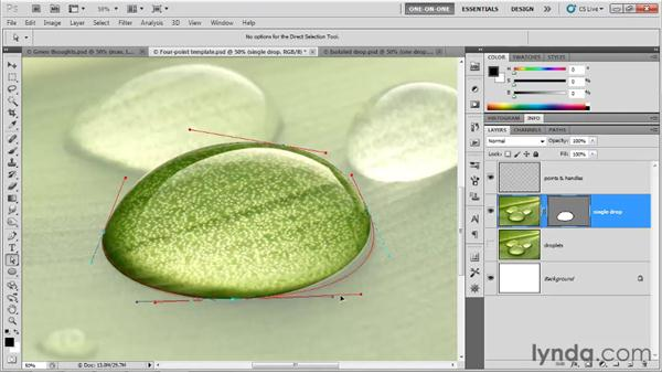 Stretching curved segments: Photoshop CS5 One-on-One: Mastery