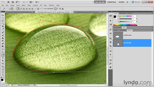 Drawing smooth points with the Pen tool: Photoshop CS5 One-on-One: Mastery
