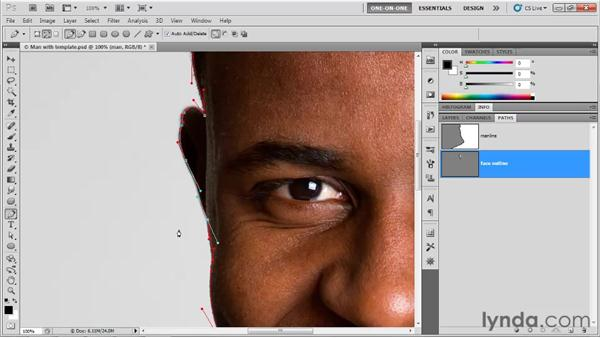 Drawing cusp points: Photoshop CS5 One-on-One: Mastery
