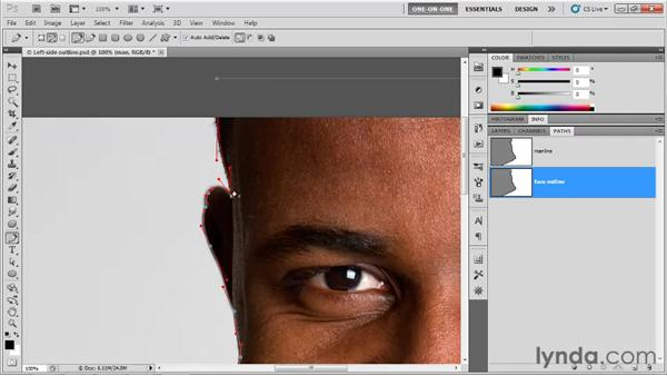 Setting points in the pasteboard: Photoshop CS5 One-on-One: Mastery