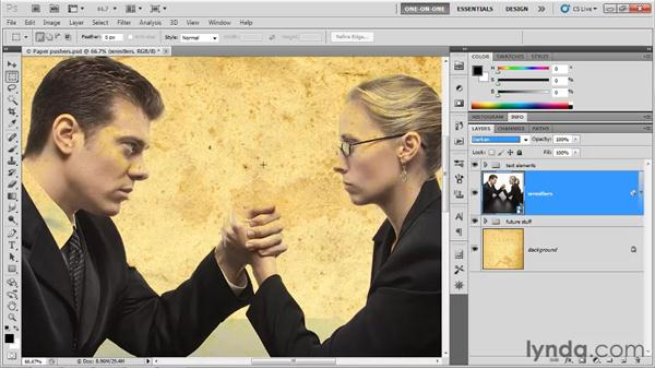 Cycling between blend modes: Photoshop CS5 One-on-One: Mastery