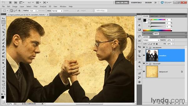 The Multiply and Burn modes: Photoshop CS5 One-on-One: Mastery