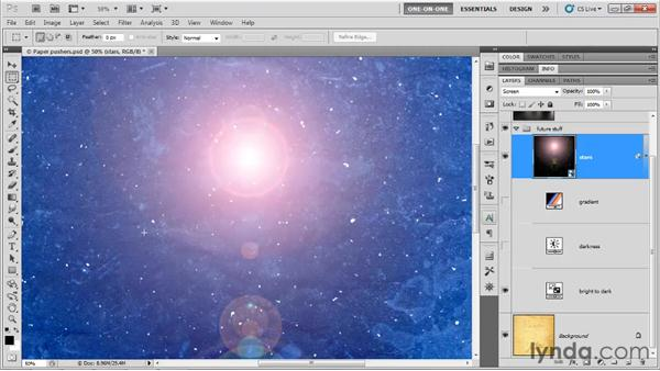 The Screen and Dodge modes: Photoshop CS5 One-on-One: Mastery