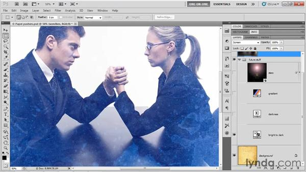 How opposite blend modes work: Photoshop CS5 One-on-One: Mastery