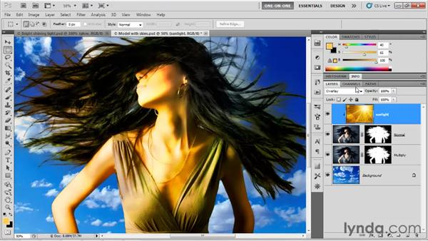 Overlay, Soft Light, and Hard Light: Photoshop CS5 One-on-One: Mastery